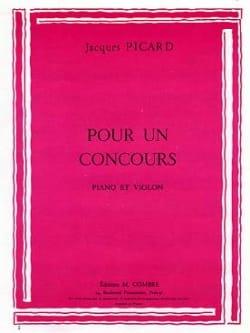 Jacques Picard - Pour un concours - Partition - di-arezzo.fr