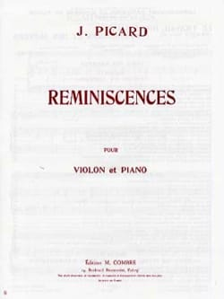 Reminiscences Jacques Picard Partition Violon - laflutedepan