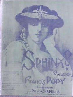 Francis Popy - Sphinx – Violon - Partition - di-arezzo.fr