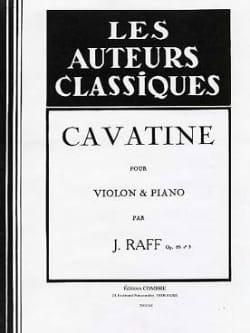 Joachim Raff - Cavatine op. 85 n° 3 - Violon - Partition - di-arezzo.fr