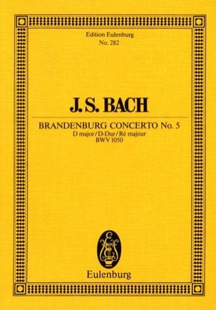 Brandenburgisches Konzert Nr. 5 D-Dur BACH Partition laflutedepan