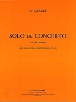 A. Ribault - Solo de Concerto en sol majeur - Partition - di-arezzo.fr