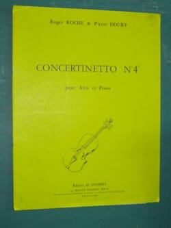 Roche Roger / Doury Pierre - Concertinetto n° 4 - Partition - di-arezzo.fr