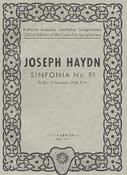 Symphonie Nr. 91 Es-Dur Hob. 1 : 91 - Partitur - laflutedepan.com