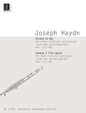 Joseph Haydn - Sonate Es-Dur (nach Hob. 3 : 80) – Flöte (Violine) u. Klavier - Partition - di-arezzo.fr