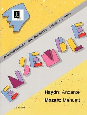 Haydn Joseph / Mozart Wolfgang Amadeus - Andante / Menuett –Bläser-Ensemble - Partition - di-arezzo.fr