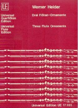 Drei Flöten-Ornamente - Werner Heider - Partition - laflutedepan.com