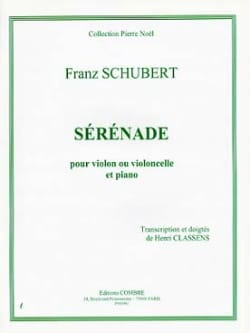 Sérénade - Violon ou Cello SCHUBERT Partition Violon - laflutedepan