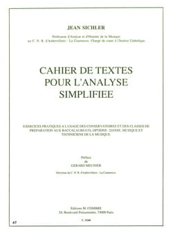 Jean Sichler - Textbook for Simplified Analysis - Sheet Music - di-arezzo.com