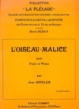 Jean Sichler - The bird-malice - Sheet Music - di-arezzo.co.uk