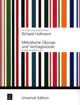 Richard Hofmann - Melodische Übungs- und Vortragsstücke für Oboe und Klavier - Partition - di-arezzo.fr