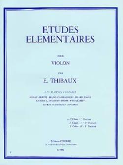 E. Thibaux - Etudes Elémentaires Volume 1 - Partition - di-arezzo.fr