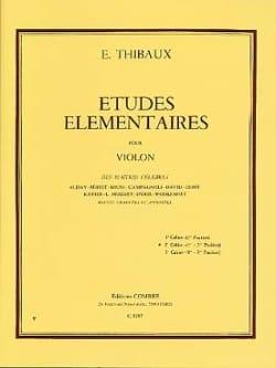 E. Thibaux - Elementary Studies Volume 2 - Sheet Music - di-arezzo.co.uk
