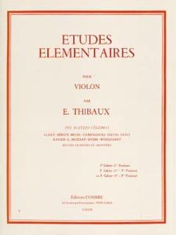 Etudes Elémentaires Volume 3 E. Thibaux Partition laflutedepan