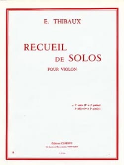 E. Thibaux - Colección de Solos, cuaderno n ° 1 - Partitura - di-arezzo.es