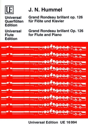 Grand rondeau brillant op. 126 - Flöte Klavier HUMMEL laflutedepan
