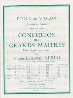 Viotti Giovanni Battista / Nerini Pierre Emmanuel - 1er Solo du Concerto n° 23 Nerini - Partition - di-arezzo.fr