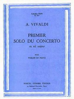 Antonio Vivaldi - 1er solo du Concerto en sol majeur - Partition - di-arezzo.fr