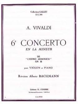 VIVALDI - 6º Concierto para violín en The Minor Op. 3 - Partitura - di-arezzo.es