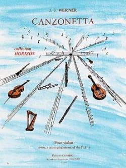 Jean-Jacques Werner - Canzonetta - Partition - di-arezzo.fr