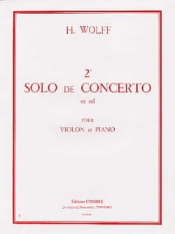 H. Wolff - 2nd Solo of the Concerto in G - Sheet Music - di-arezzo.com