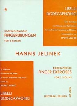 Hanns Jelinek - Dodekaphonische Fingerübungen für 2 Geigen - Partition - di-arezzo.fr