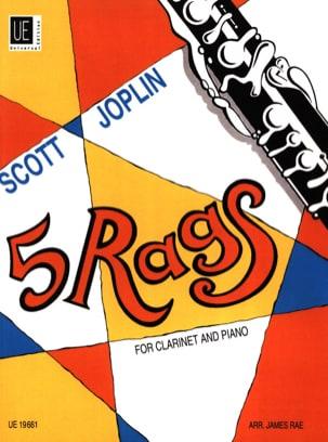 Scott Joplin - 5 Rags for Clarinet and piano - Partition - di-arezzo.fr