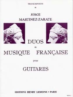 Jorge Martinez-Zarate - Duos de musique française - Partition - di-arezzo.fr