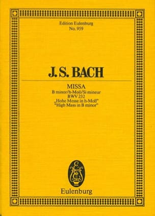 Johann Sebastian Bach - Hohe Messe H-Moll, BWV 232 - Partition - di-arezzo.fr