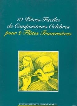 François Nerini - 10 Pièces faciles de compositeurs célèbres - 2 Flûtes - Partition - di-arezzo.fr