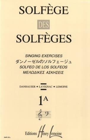 Lavignac - Solfeggio of Solfeggio Volume 1 A - Unaccompanied - Sheet Music - di-arezzo.co.uk