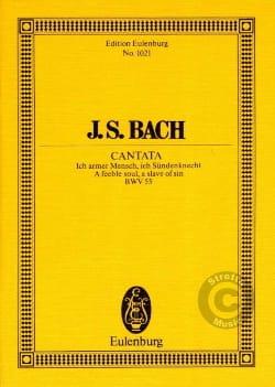 Johann Sebastian Bach - Cantata Ich Armer Mensch, Ich Sündenknecht BWV 55 - Partition - di-arezzo.fr