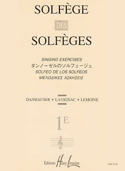 Lavignac - Solfeggio Volume 1eのソルフェッジョ - 伴奏なし - 楽譜 - di-arezzo.jp