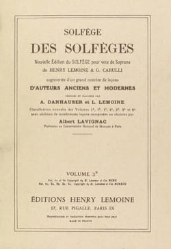Lavignac - Volume 3b - S / A - Solfeggio of the Solfeggio - Sheet Music - di-arezzo.co.uk
