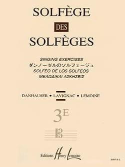 Lavignac - Volume 3E S/A – Solfège des Solfèges - Partition - di-arezzo.fr