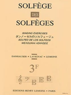 Lavignac - Volume 3F - S/A – Solfège des Solfèges - Partition - di-arezzo.fr