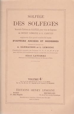 Lavignac Albert - Volume 4b - S / A - Solfeggio of the Solfeggio - Sheet Music - di-arezzo.co.uk