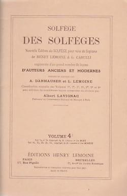 Lavignac Albert - Volume 4b - S / A - Solfeggio of the Solfeggio - Sheet Music - di-arezzo.com