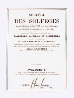Lavignac - Volume 4c - S / A - Solfeggio Music School - Sheet Music - di-arezzo.co.uk