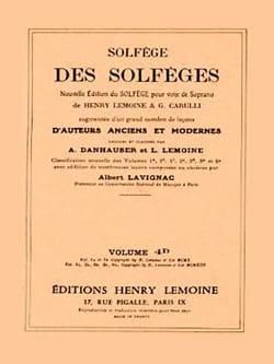 Volume 4d - S/A - Solfège des Solfèges Albert Lavignac laflutedepan