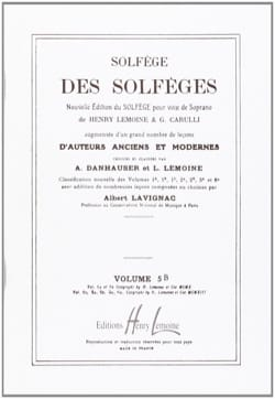 Lavignac - Volume 5b - S/A - Solfège des Solfèges - Partition - di-arezzo.fr