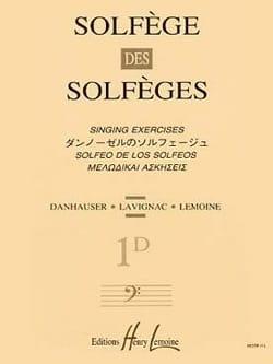 Lavignac - Volume 1d - A/A - Solfège des Solfèges - Partition - di-arezzo.fr