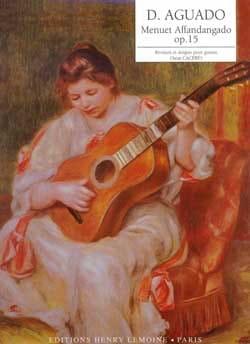 Dionisio Aguado - Menuet affandangado op. 15 - Partition - di-arezzo.fr