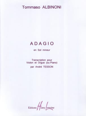 Tomaso Albinoni - Adagio in Sol Minor - Sheet Music - di-arezzo.com