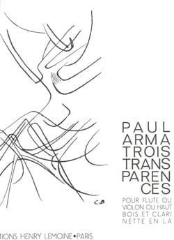 3 Transparences - Flûte clarinette - Paul Arma - laflutedepan.com