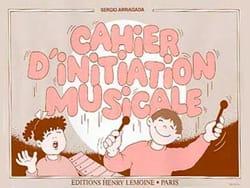 Cahier d'initiation musicale Sergio Arriagada Partition laflutedepan