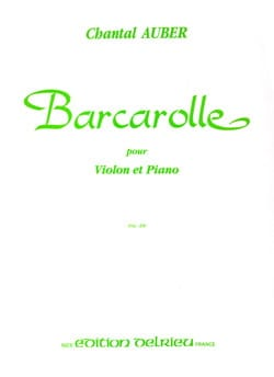 Barcarolle - Chantal Auber - Partition - Violon - laflutedepan.com