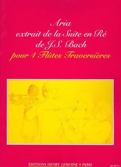 Johann Sebastian Bach - Aria (extr. Suite en Ré) – 4 Flûtes - Partition - di-arezzo.fr