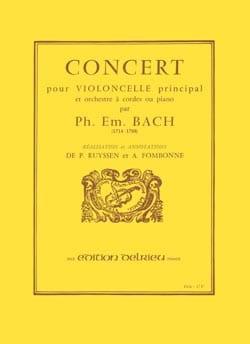 Concert Carl Philipp Emanuel Bach Partition laflutedepan