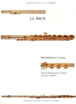BACH - Inventions with 2 voices - 2 Flutes - Sheet Music - di-arezzo.co.uk